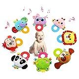 Jouets pour enfants Noël Cadeau Bébé hochet main cloche jouets peluche panda oiseau grenouille chien hochet poupées cadeaux pour les nourrissons