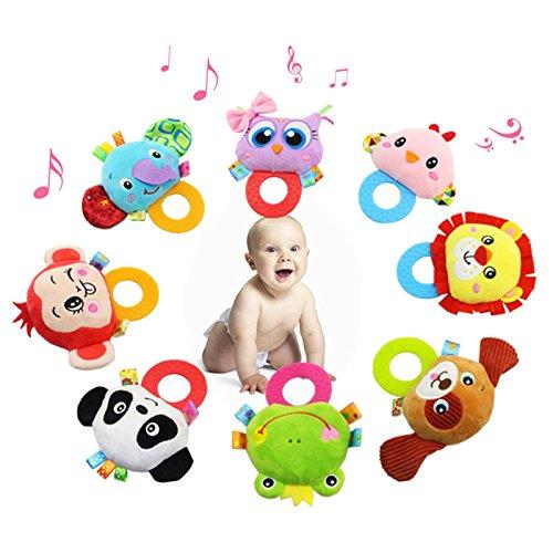 Preisvergleich Produktbild Zantec Baby Rattle Hand Bell Spielzeug Plüsch Panda Vogel Frosch Hund Rattle Puppe Geschenke für Säuglinge