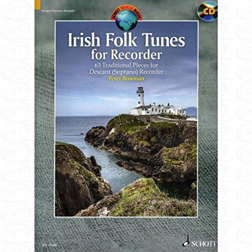 Irish folk tunes - arrangiert für Sopranblockflöte - mit CD [Noten/Sheetmusic] aus der Reihe: Schott World Music -