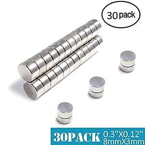 Magneti Piccoli,FEYG MiNi Magneti Neodimio 8X3mm In Neodimio e Terre Rare Supermagnete al Magnete permanente Calamita… 51FYgVPA aL. SS300