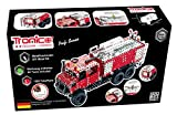 Tronico Metal Construction Kit Fire Engine Truck Unimog 1089 Pieces, 1:16 Fully Functional 4 Color Assembly Instructions with Tool, age12+