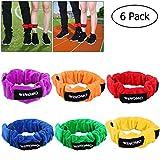 WINOMO 6pcs 3 ceintures garnies par corde extensible coupent grand pour des carnavals d'enfants, le jour de terrain, la cour et le jeu de voyage de pied...