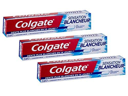 Colgate Crem Dental Sensation Blanqueador - Pack de 3 x 75ml