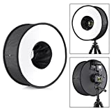 Phot-R 45 centimetri 18 Universal pieghevole Macro Ring Flash rotonda Diffusore Softbox per DSLR SLR Fotocamera Digitale Flashgun + Carry Case