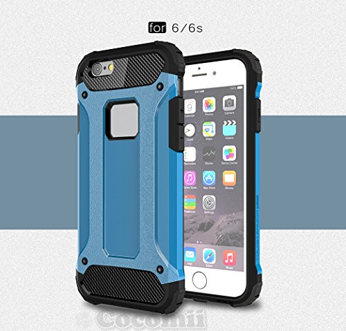 iPhone 6S / 6 Coque, Cocomii Commando Armor NEW [Heavy Duty] Premium Tactical Grip Dustproof Shockproof Hard Bumper Shell [Military Defender] Full Body Dual Layer Rugged Cover Case Étui Housse Apple ( Blue