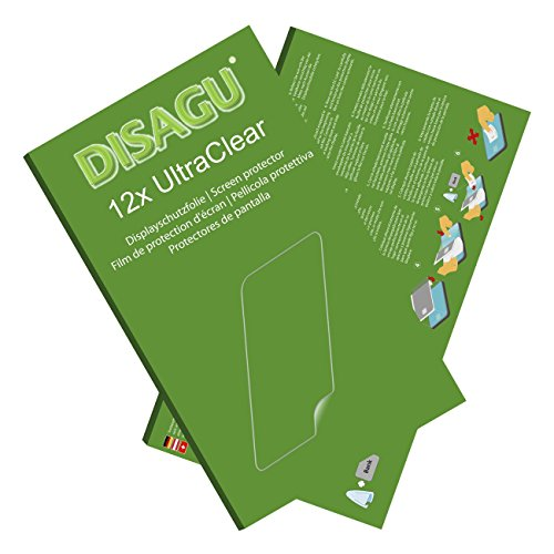 Disagu Endubro I5 Plus Displayschutzfolie - 12x Ultra Clear Schutzfolie für Endubro I5 Plus (verkleinerte Folie)