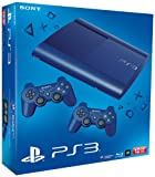 PS3 - Konsole Slim 12GB Azurite Blue  (SuperSlim) inkl. 2 Dualshock-Controller Blue Bild