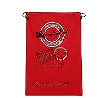 vahome® Santa Sack Christmas Sack Holiday Decorating Bag Santa Gift Bag,Pack of 1 (Red-02)
