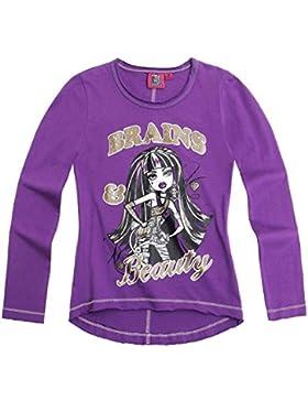 Monster High Mädchen Langarmshirt - violett