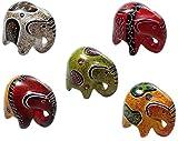 Elefant Figur, Glückselefant aus Speckstein in verschiedenen Ausführungen