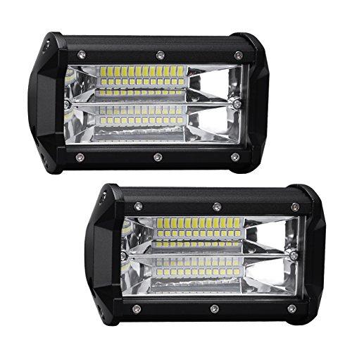 Preisvergleich Produktbild Favoto 2 x 36W LED Arbeitsscheinwerfer Auto Offroad Zusatzscheinwerfer Bar Car LED Work Light IP67 Wasserdicht für SUV UTV ATV Jeeps LKW Traktoren Geländefahrzeuge