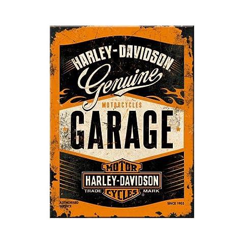 Nostalgic Art 14332magnétique Harley-Davidson Garage, 8x 6cm