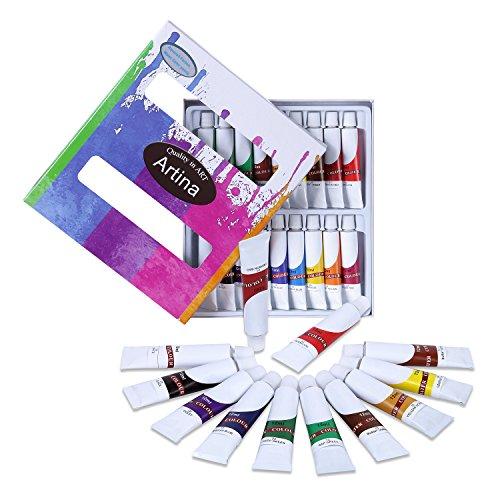 Artina Colaro Aquarellfarben Set 18x12ml Aquarell Farben Künstlerfarben, Farb-Set für Hobby-Künstler & Malprofis
