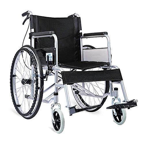 TWL-Wheelchair Rollstuhl-Komfort-Leichter Leichter Transport, Der Beweglichen Reise-Stuhl-Älteren Untauglichen Wanderer-Aluminiumlegierungs-Manuellen Stahl Faltet, Schwarz