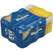 Mahou Sin - Cerveza sin alcohol, lata 33 cl (Pack de 12)