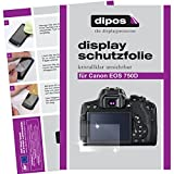 dipos Canon EOS 750D Schutzfolie (6 Stück) - kristallklare Premium Folie Crystalclear