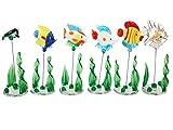 Pfronten 6 Aquarium Fische aus Glas - Stand-Skulpturen Glasfigur