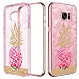 BENTOBEN Galaxy S7 Edge Hülle, Samaung S7 Edge Hülle, Hülle Samsung S7 Edge Schutzhülle stoßfest 3D Pattern Silikon Cover mit Ananas Muster Handyhülle für Samsung Galaxy S7 Edge G935F Rose Ananas