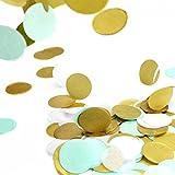 Simplydeko Table-Confetti Mix | Konfetti aus Seidenpapier in 3cm (Party, Hochzeit, Deko, Hochzeitsdeko, Konfeti in Pastell) Wunderschönes XXL-Konfetti (Karibik)
