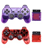 Gollec Wireless Controller Controller Controller Controller Controller Joystick kompatibel für PS2 Playstation 2 Double Shock