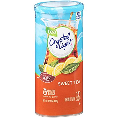 CRYSTAL LIGHT SWEET TEA MADE WITH REAL TEA DRINK MIX MAKES 12 QUARTS AMERICAN IMPORT