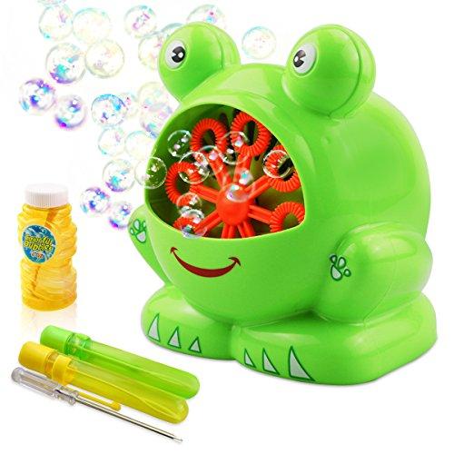 TedGem Seifenblasenmaschine, Bubble Machine für Kinder Indoor und Outdoor Bubble Maker Spiele, perfekt für Partys, Hochzeit, Wedding(Blasenflüssigkeit Nicht Enthalten)