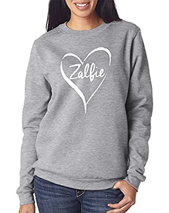 ZALFIE - Adults, Teens and Kids Vloggers You Tube Stars Unisex Jumper - Various Colours Available Sweatshirt - Youth and Adult Sizes (Age 7-8, Grey / White)