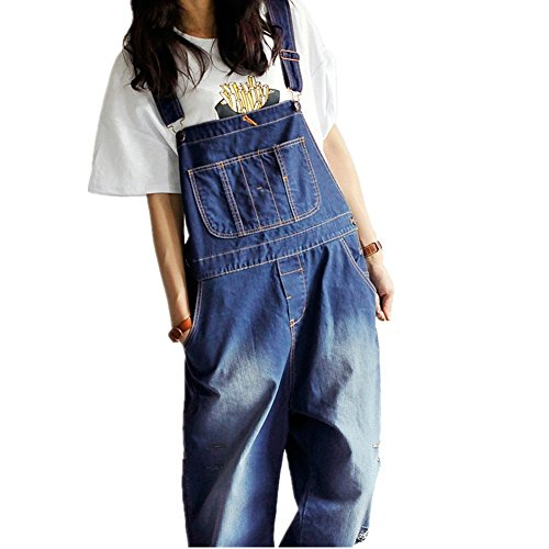 BOMOVO- Salopette- Overall- Jeans- Boyfriend- Donna