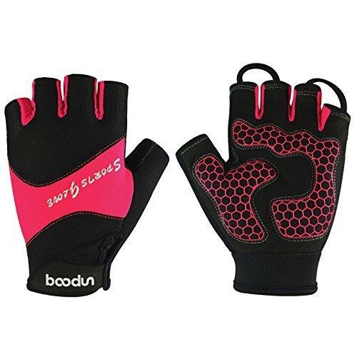 DeLong CG-22 Fingerlose Fahrrad-Handschuhe aus Mikrofaser, damen, rose, M-Hand circumference[7.5-8.3]inchs Mädchen Fahrrad Shorts Größe 8
