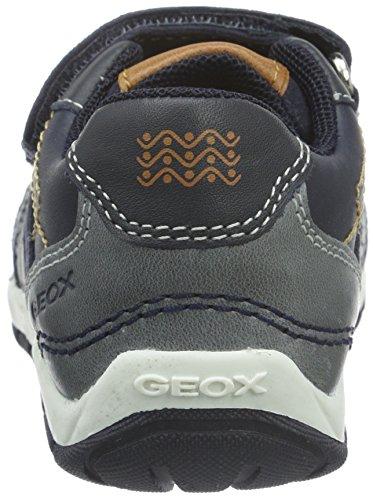 Geox B Shaax A, Chaussures Marche Bébé Garçon Blau (Navy/DK GREYC4422)