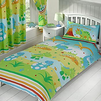 Viceroybedding Children S Kids Cot Bed Size Dinosaur Design Boys Duvet