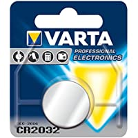 Varta CR2032 Batteria al Litio, 3V, 230 mAh, Acciaio