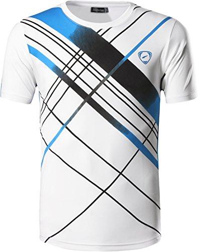 Jeansian Hombre Camisetas Deportivas Wicking Quick