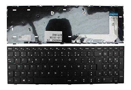 Keyboards4Laptops Lenovo IdeaPad 110-17ACL Noir Cadre Noir Windows 8 Layout Française Clavier pour Ordinateur Portable (PC) de Remplacement