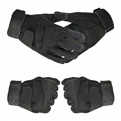 Tailcas® Vollfinger Taktik Handschuhe Gloves Atmungsaktiv Schleudern Anti-Verschleiß windundurchlässig für Motorrad Motorbike Motorcycle Fahrrad Cycling Mountainbike Fahren Schießen Sport Fitness Bergesteigen (Schuhe Hosen Tragen)
