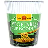 Tiger Khan Noodles Vegetales - 60 gr - [Pack de 12]