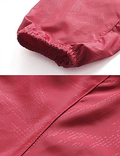 Mochoose Femme Légère Packable Veste de Sport à Capuche Protection UV Coupe Vent Imperméable à Séchage Rapide Armée Verte