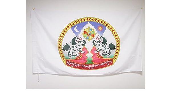 Drapeaux AZ FLAG Drapeau Tibet 150x90cm Drapeau tib/étain 90 x 150 cm