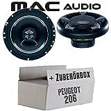 Peugeot 206 - Lautsprecher Boxen Mac-Audio Street - 16cm 280Watt Auto Einbausatz - Einbauset