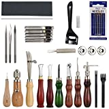 Espeedy 19pcs Leder Craft Tools Set mit Locher