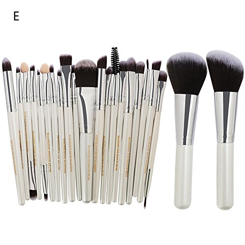 URSING 22 Pcs Pinceaux de Maquillage Set Poudre Fondation Fard À Paupières Eyeliner Lèvres Brosse Cosmétique Pinceau Maquillage Professionnel couleurs de maquillage Correcteur Contour Palette + pinceau de maquillage Définit la Fondation Eyeshadow Sourcils Lip Brush pinceaux de maquillage outil Brosse de Maquillage outils mis pinceau de maquillage Set de maquillage Trousse de toilette en laine Make Up Brush Set (E, Multicolore)