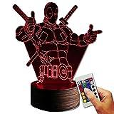 Stuff4Players Deadpool Dekolampe Here Is The Anti-Hero (3D-Hologramm Illusion)
