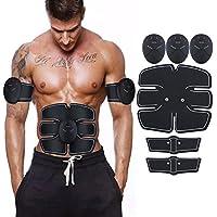 CosyVie - Tóner muscular para entrenamiento de músculos – Tóner muscular abdominal EMS Abs Trainer cinturón inalámbrico para ejercicio muscular para abdomen/brazo/pierna/entrenamiento para hombres y mujeres hogar oficina equipo de entrenamiento