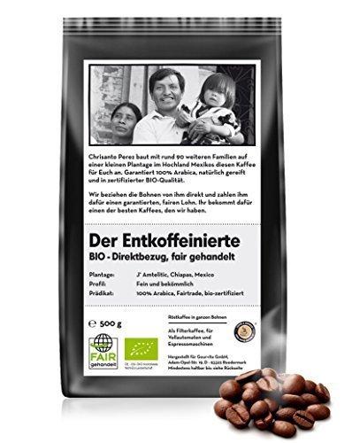 BIO & FAIR Der entkoffeinierte Kaffee 500g Bohne