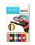 #9: Apsara 101250002 Color Pencils - 14 Shades (Multicolor)