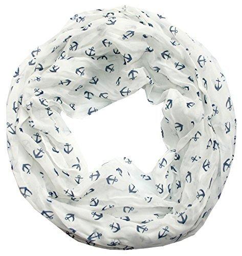 anker-marine-damen-loop-schal-seide-baumwolle-weiss-blau