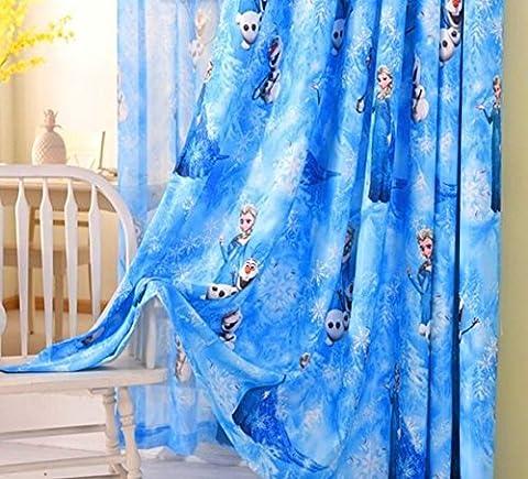 La Reine des neiges Bleu Rideau en voile 150cm de largeur x 130cm de hauteur