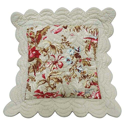 Cojín Almohada Cubierta de seda de la cubierta 45 Cm Azul Floral Print sofá almohada India 18
