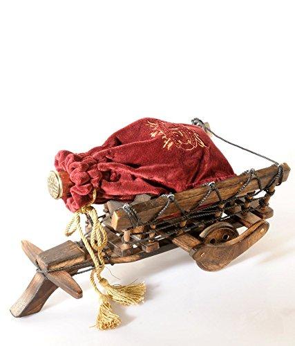 Affaires®–Supporto per bottiglia di vino in legno legno, porta bottiglia carrello è un regalo unico ed elegante di Natale o compleanno. w-40070
