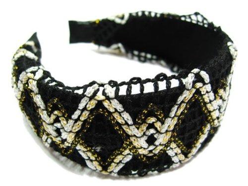 rougecaramel - accessoires cheveux - Serre tête/headband large tricoté - noir